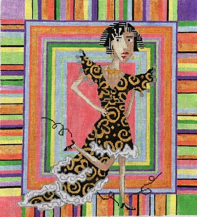 click here to view larger image of Come Dance With Me (hand painted canvases)
