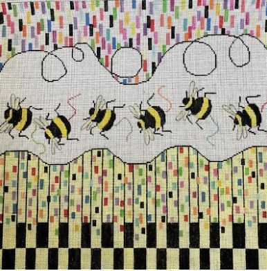 click here to view larger image of Bee Line (hand painted canvases)