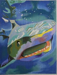 click here to view larger image of Card Shark (hand painted canvases)