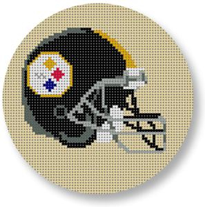 click here to view larger image of Pittsburgh Steelers Helmet - Football (hand painted canvases)