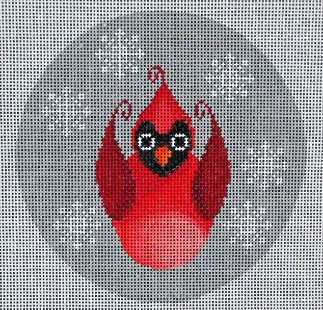click here to view larger image of Christmas Cardinal Ornament (hand painted canvases)