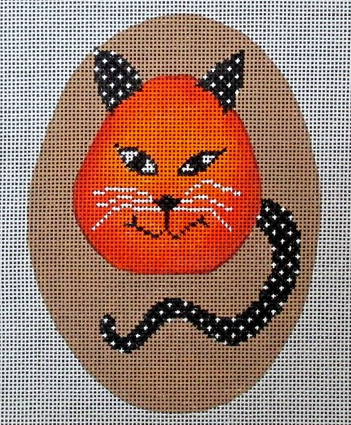 click here to view larger image of Cheeky Pumpkins - Cat (hand painted canvases)
