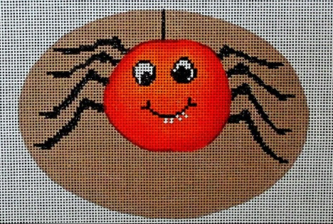 click here to view larger image of Cheeky Pumpkins - Spider (hand painted canvases)