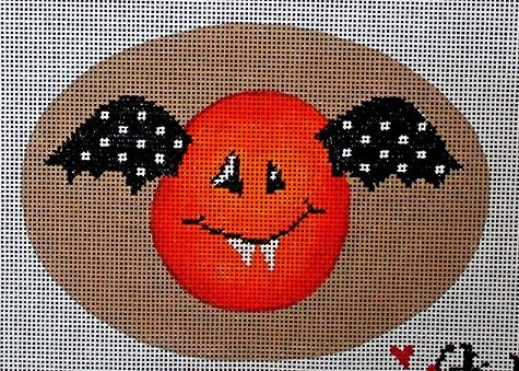 click here to view larger image of Cheeky Pumpkins - Bat (hand painted canvases)