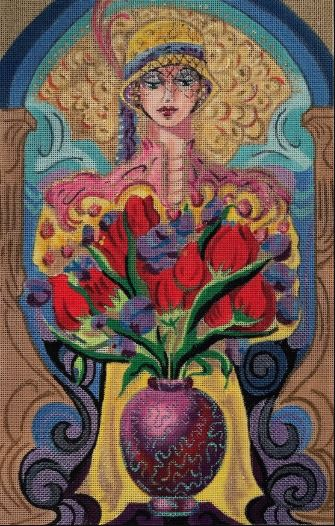 click here to view larger image of Adriana (hand painted canvases)
