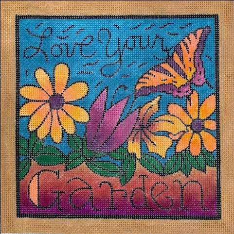 click here to view larger image of Love Your Garden (hand painted canvases)