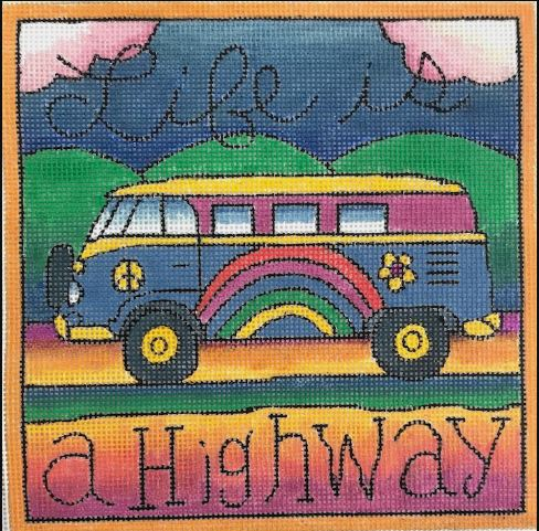 click here to view larger image of Life is a Highway (hand painted canvases)