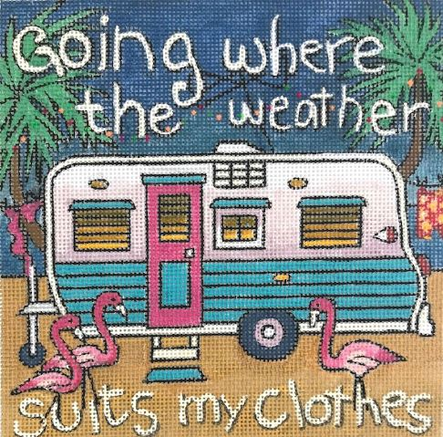 click here to view larger image of Going Where The Weather Suits My Clothes (hand painted canvases)