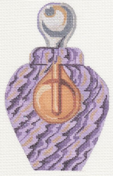 Purple Venetian Glass Perfume Bottle - click here for more details about this hand painted canvases