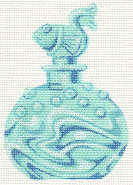 click here to view larger image of Aqua Fish Dauber Perfume Bottle (hand painted canvases)
