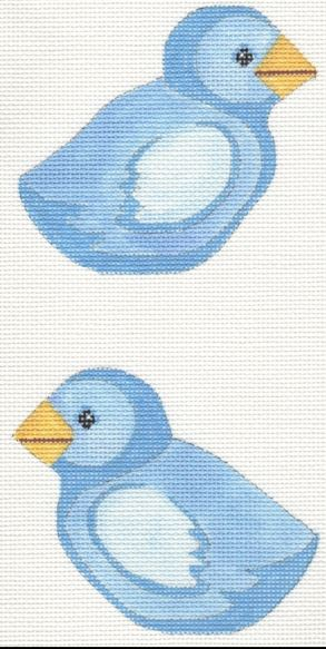 Blue Chick Clip-On - click here for more details about this hand painted canvases
