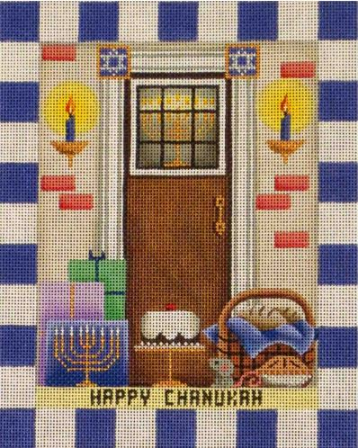 click here to view larger image of Chanukah Entryway (hand painted canvases)