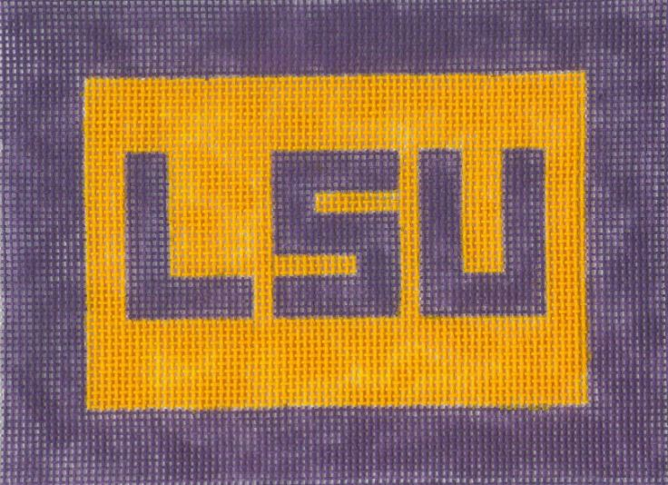 click here to view larger image of LSU - Large  (hand painted canvases)