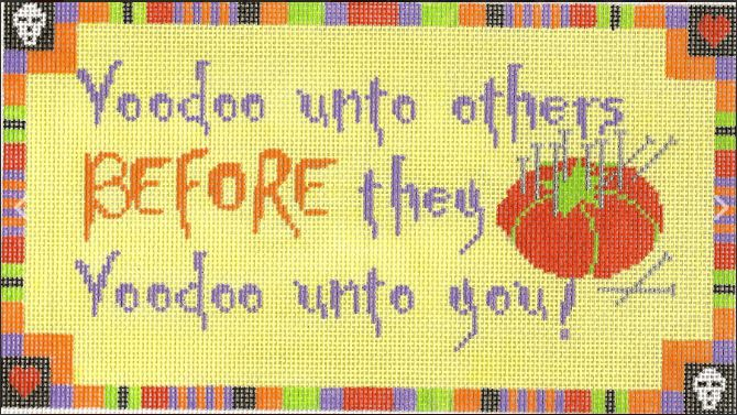 click here to view larger image of Voodoo Unto Others (hand painted canvases)