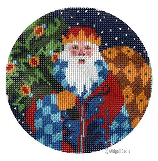 click here to view larger image of Jacobean Santa  (hand painted canvases)