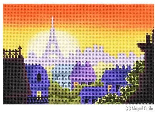 click here to view larger image of Rooftops of Paris Postcard (hand painted canvases)