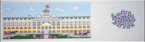 click here to view larger image of Grand Hotel, The (oval) Hinged Box (hand painted canvases)