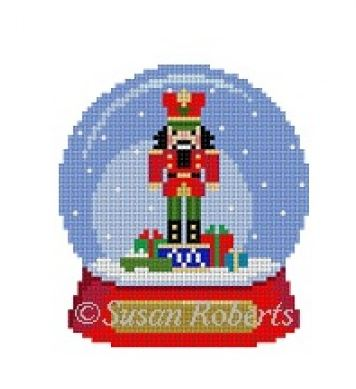click here to view larger image of Snow Globe Nutcracker (hand painted canvases)