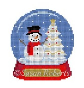 click here to view larger image of Snow Globe Snowman (hand painted canvases)