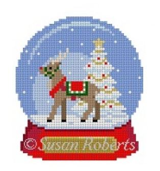 click here to view larger image of Snow Globe Reindeer (hand painted canvases)