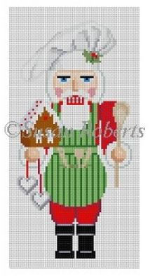 click here to view larger image of Chef / Gingerbread Nutcracker (hand painted canvases)