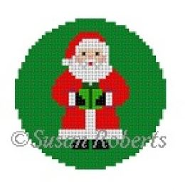 click here to view larger image of Santa w/Present (hand painted canvases)
