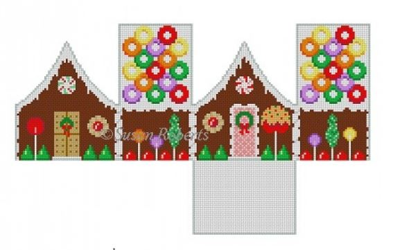 click here to view larger image of Life Saver Gingerbread House - 3D (hand painted canvases)