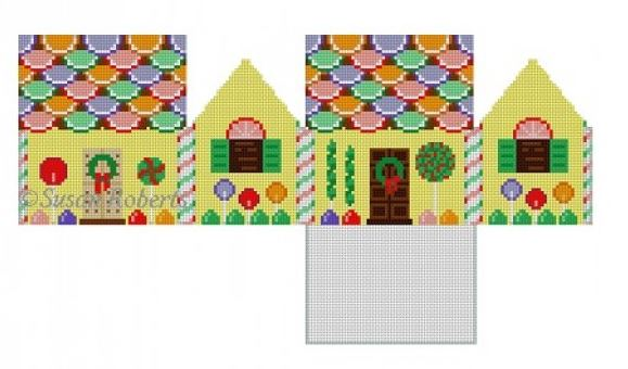 click here to view larger image of Fruit Slice and Lollipops House - 3D (hand painted canvases)