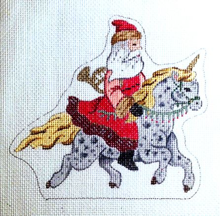 click here to view larger image of Santa Riding Unicorn (hand painted canvases)