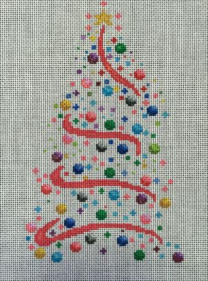 click here to view larger image of Christmas Twister (hand painted canvases)