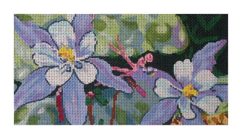 click here to view larger image of Columbines (hand painted canvases)
