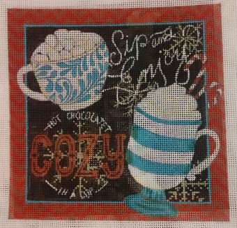 click here to view larger image of Hot Chocolate - Cozy Chocolate (hand painted canvases)