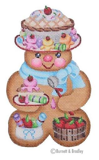 click here to view larger image of Gingerbread Girl Pie Hat (hand painted canvases)