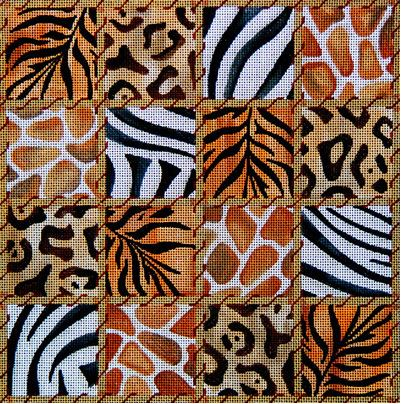 click here to view larger image of Animal Skin Patchwork (hand painted canvases)