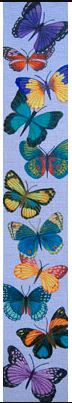 click here to view larger image of Butterfly Bellpull (hand painted canvases)