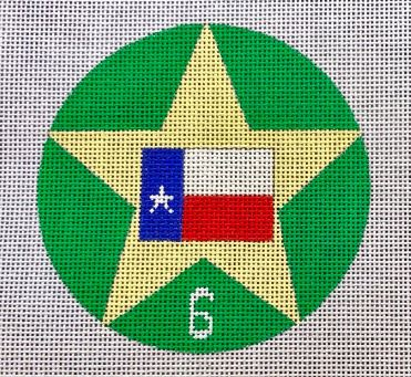 click here to view larger image of 12 Days of Texas 6 - Flags Flying (hand painted canvases)