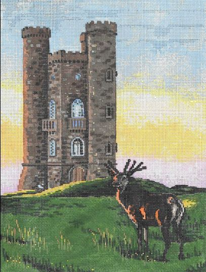 click here to view larger image of Broadway Tower (hand painted canvases)
