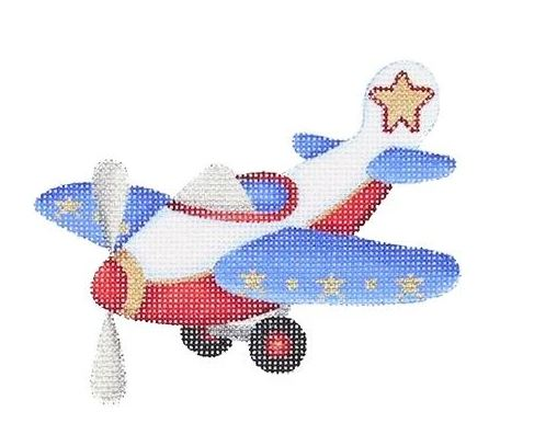 click here to view larger image of Airplane Ornament (hand painted canvases)