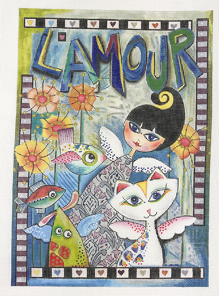 click here to view larger image of L'Amour (hand painted canvases)
