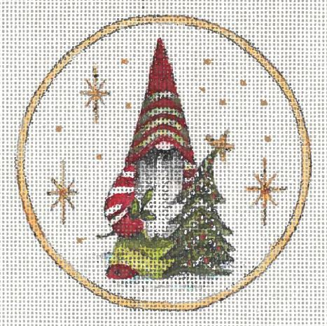 click here to view larger image of Gnome Ornament III (hand painted canvases)