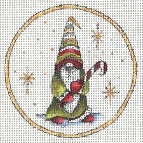 click here to view larger image of Gnome Ornament I (hand painted canvases)