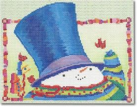 click here to view larger image of Snowman w/Hat (hand painted canvases)