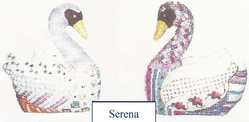 click here to view larger image of Serena the Swan w/Stitch Guide (hand painted canvases)