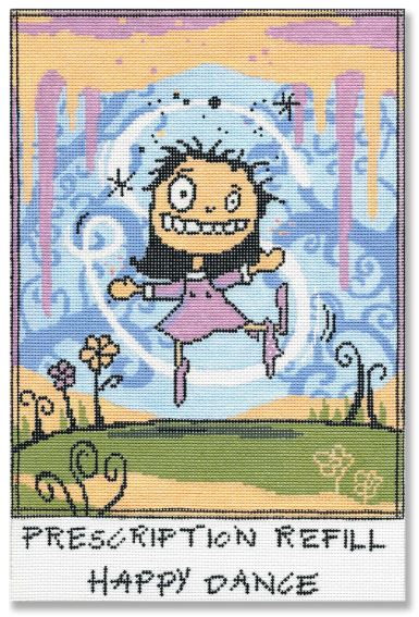 click here to view larger image of Prescription Refill Happy Dance (hand painted canvases)