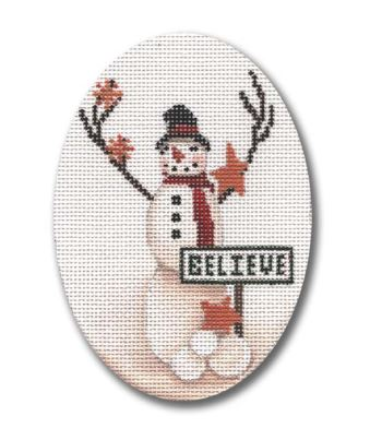 click here to view larger image of Believe in Magic Snowman  (hand painted canvases)