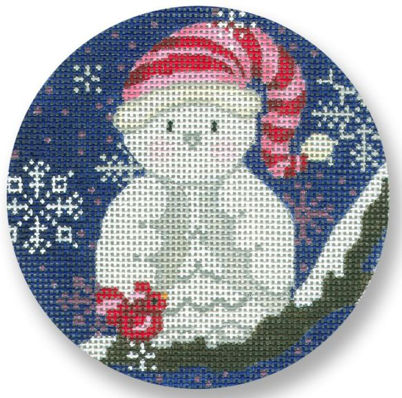 click here to view larger image of Owl Snowman (hand painted canvases)