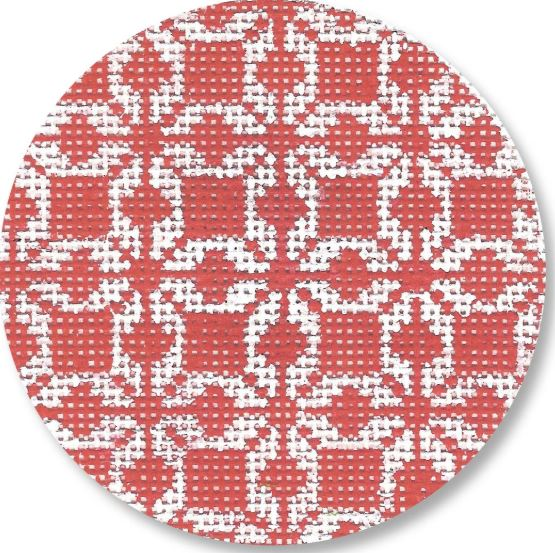 click here to view larger image of Red and White Ball (hand painted canvases)