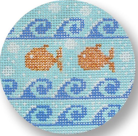 click here to view larger image of Goldfish w/Waves (hand painted canvases)