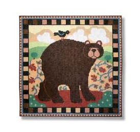 click here to view larger image of Folk Art Bear (hand painted canvases)