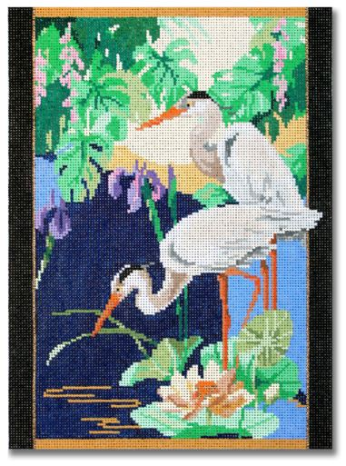 click here to view larger image of Tranquil Cranes (hand painted canvases)